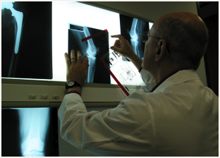 Dr. Parr working with x-rays